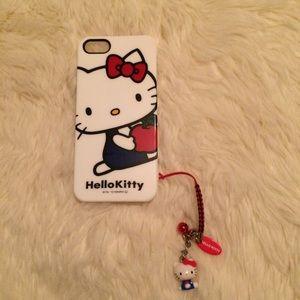 iPhone 5/5s/SE case w/ little Hello Kitty charm
